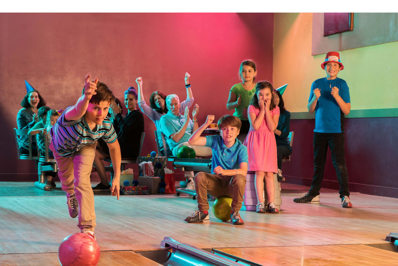 Kids Bowling with Family